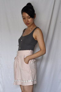 Image of Pale Pink Floral Lace Skirt