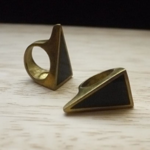 Image of Brass triangle ring
