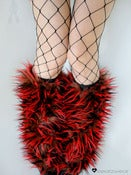Image of Festival fluffies uv red/brown/black 