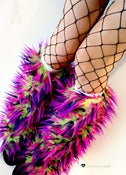 Image of Festival fluffies uv lime/fuschia/purple