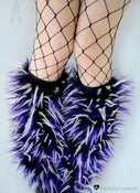 Image of Festival fluffies uv purple/black/white