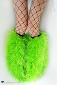 Image of Superpoof fluffies uv lime 