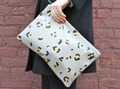Image of leopard spot clutch