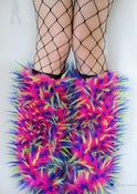 Image of Festival fluffies uv hot pink/blue/lime