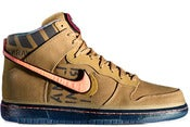 Image of Nike Dunk High Premium QS Galaxy Flight Gold