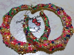 Image of   ♥rainbow bling bamboo with kitty bow ♥