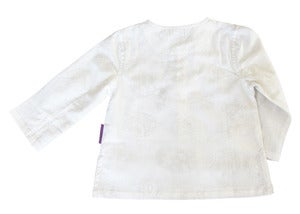 Image of Lily-white Paisley Kurta Shirt