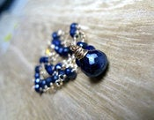 Image of Navy Sapphire Necklace in 14kt Gold Filled Wire