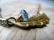 Image of Feather & Teal Quartz Necklace