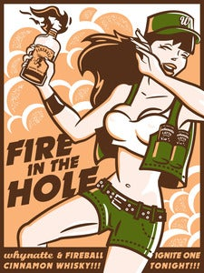 "Image of Whynatte ""Fire in the Hole"" Print (18x24)"