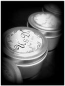 Image of Wedding and Party Favors Natural Pure Hand Poured Soy Candles Travel Tin with Personalized Label