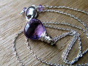 Image of Amethyst Necklace in Sterling Silver