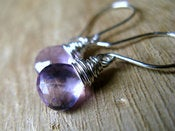 Image of Amethyst Earrings in Sterling Silver