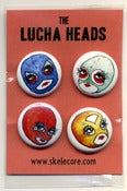 Image of Lucha Heads Pin Pack