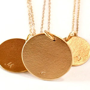 Image of Gold Initial Necklaces
