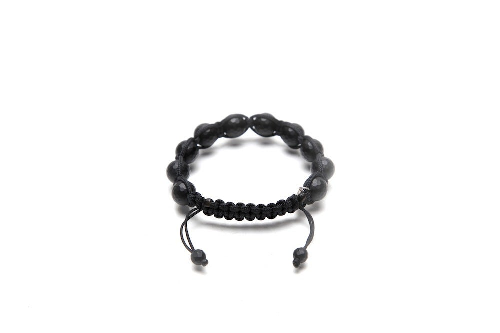 Image of Black Silk w/ Faceted Matte Onyx