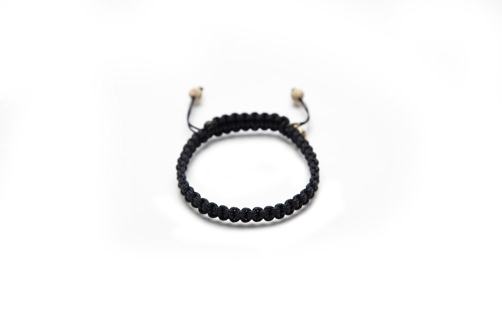 Image of Black Silk Bracelet w/ Gold Laser Cut