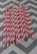 Image of Red Sugar Diva Paper Straws