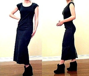 Image of Calf-Length Denim Dress by Donna B. Taylor Size 4