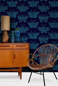 Image of Camberwell Beauty Wallpaper - Midnight