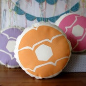 Image of PEACH Iced Ring Screen Printed Cushion