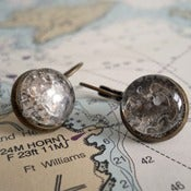 Image of Beach Sand Earrings from the coast of Maine