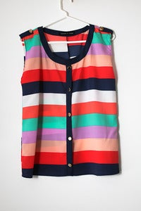 Striped colour tank