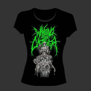 "Image of Waking The Cadaver ""Bodystack"" Girls T shirt green"