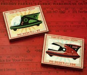 Image of Rocket Racer Art Blocks - Set of Two - 4 in x 5 in