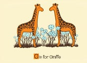 Image of G is for Giraffe Alphabet Print
