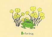 Image of F is for Frog Alphabet Print