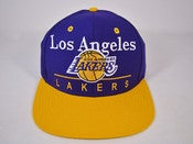 Image of LOS ANGELES LAKER SCRIPT SNAPBACK