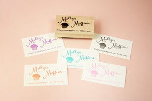 Image of Hand lettered custom business card