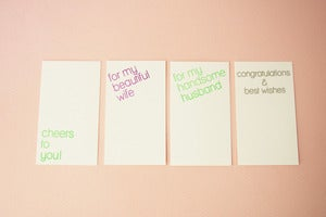 Image of Gift Card modern set of 5