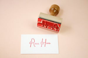 Image of Flower child name rubber stamp