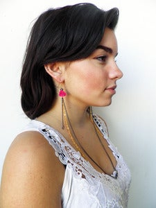 Image of Rose Necklace-Earrings