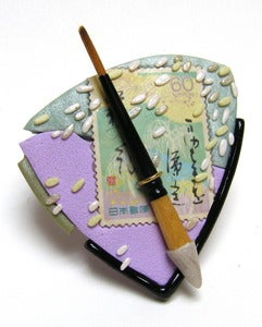 Image of Japanese Brush Painting Brooch
