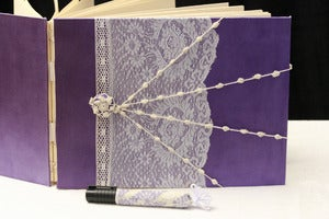 Image of Vintage Wedding Custom Photo Album, Guest Book, Matching Pen LAST ONE