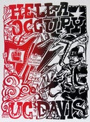 Image of Hella Occupy UC Davis Silk Screened Poster