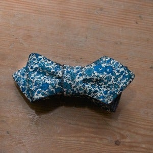 Image of Blue Floral Bow Tie