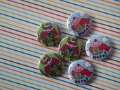Image of Pins: 1-inch Cupcake Hero and Villain Pins