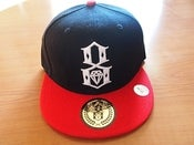 "Image of NEW! Rebel 8 Eight ""Burning Bridges"" Snapback Fitted Hat Collection (Black/Red)"