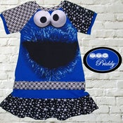 Image of **SOLD OUT** Cookie Monster Dress with Double Ruffle - Size 5T/6