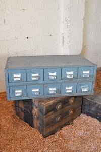 Image of Grey Industrial Parts Cabinet