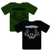 Image of 'Rattlesnake Woman' T-Shirt (Green/Black)