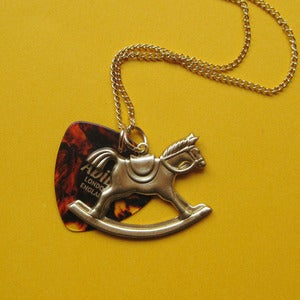 Image of Plectrum Rocking Horse Necklace 30% Off!