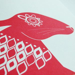 Image of Scandinavian Red Hare - Hand Pulled, Signed, Gocco Print