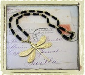 "Jewelry: ""Black Rosary Dragonfly"""