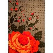 Image of rough rose rug