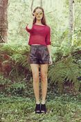 Image of Lilya Leather Short